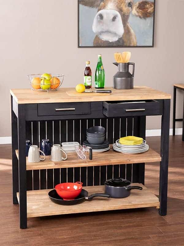 Berinsly Expandable Freestanding Kitchen Island