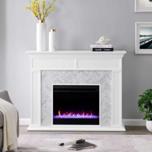 Torlington Marble Smart Fireplace