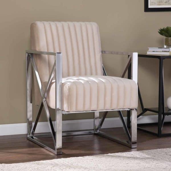 Ellison Velveteen Accent Chair