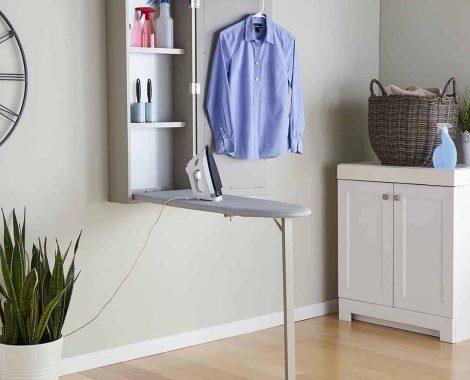 Wall mount ironing board